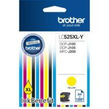 Brother LC525 XL YL sárga (YL-Yellow) nagy kapacitású eredeti (gyári, új) tintapatron