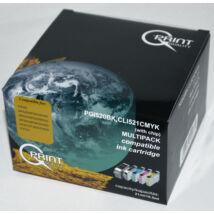Canon CLI-521 BCMY PGI-520 BK CHIP Pack kompatibilis (utángyártott) tintapatron