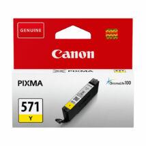 Canon CLI-571 YL sárga (YL-Yellow) eredeti (gyári, új) tintapatron