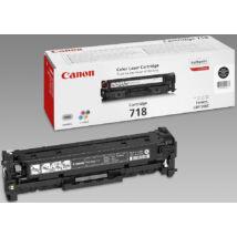 Canon CRG-718 BK fekete (BK-Black) eredeti (gyári, új) toner