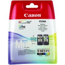 Canon PG-510 + CL-511 fekete és színes (BK-Color) eredeti (gyári, új) tintapatron