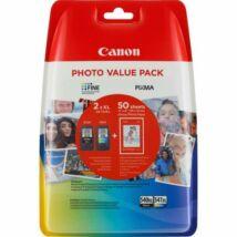 Canon PG-540 XL + CL-541 XL fekete és színes (BK-Color) eredeti (gyári, új) nagy kapacitású multipack + 50 db A6/210 fényes fotópapír