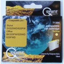 Epson T1304 YL sárga (YL-Yellow) kompatibilis (utángyártott) tintapatron