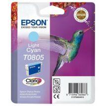 Epson T0805 LC v. cián (LC-Light Cyan) eredeti (gyári, új) tintapatron