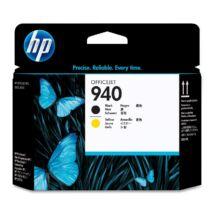 HP C4900 (No.940) BK+YL fekete+sárga eredeti (gyári, új) nyomtatófej