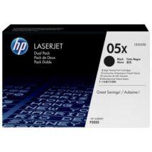 HP CE505XD (No.05X DUPLA) BK fekete (BK-Black) nagy kapacitású eredeti (gyári, új) toner