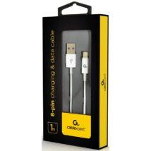 Kábel Usb 2.0 - Lightning 8-pin adat- és töltőkábel, 2m fehér (CCP-USB2P-AMLM-2M-W)