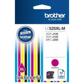 Brother LC525 XL MG bíbor (piros) (MG-Magenta) nagy kapacitású eredeti (gyári, új) tintapatron
