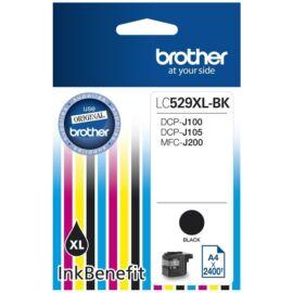 Brother LC529 XL BK fekete (BK-Black) nagy kapacitású eredeti (gyári, új) tintapatron