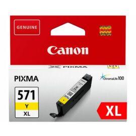 Canon CLI-571 YL XL sárga (YL-Yellow) nagy kapacitású eredeti (gyári, új) tintapatron