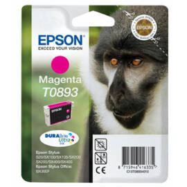 Epson T0893 MG bíbor (piros) (MG-Magenta) eredeti (gyári, új) tintapatron