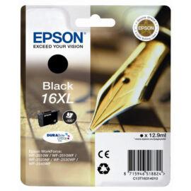 Epson T1631 (No.16 XL) BK fekete (BK-Black) nagy kapacitású eredeti (gyári, új) tintapatron