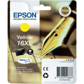 Epson T1634 (No.16 XL) YL sárga (YL-Yellow) nagy kapacitású eredeti (gyári, új) tintapatron