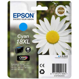 Epson T1812 (No.18 XL) CY cián (kék) (CY-Cyan) nagy kapacitású eredeti (gyári, új) tintapatron
