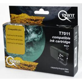 Epson T7011 BK XL fekete (BK-Black) nagy kapacitású kompatibilis (utángyártott) tintapatron