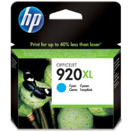 HP CD972A (No.920 XL CY) cián kék (CY-Cyan) nagy kapacitású eredeti (gyári, új) tintapatron
