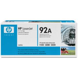 HP C4092A (No.92A) BK fekete (BK-Black) eredeti (gyári, új) toner
