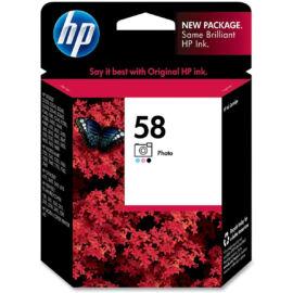HP C6658A (No.58) fotó színes (PH-Photo) eredeti (gyári, új) tintapatron