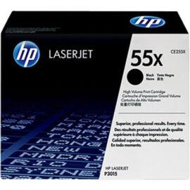 HP CE255XD (No.55X DUPLA) BK fekete (BK-Black) nagy kapacitású eredeti (gyári, új) toner