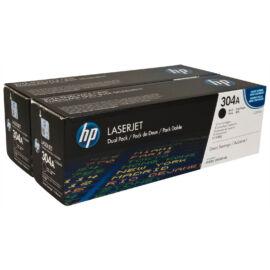 HP CC530AD BK (No.304A) BK fekete (BK-Black) 2 darabos eredeti (gyári, új) toner