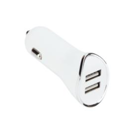 VCOM autós töltő M077 (2 db USB PORT fehér)