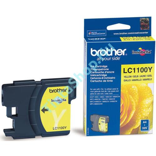 !AKCIÓS! Brother LC1100 YL sárga (YL-Yellow) eredeti (gyári, új) tintapatron