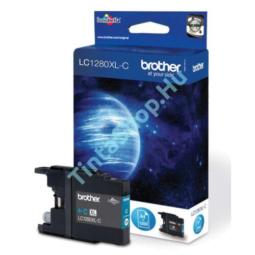 Brother LC1280 XL CY cián (kék) (CY-Cyan) nagy kapacitású eredeti (gyári, új) tintapatron