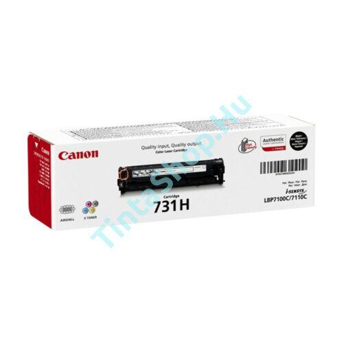 Canon CRG-731H BK fekete (BK-Black) nagy kapacitású eredeti (gyári, új) toner