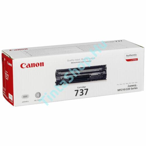 Canon CRG-737 BK fekete (BK-Black) eredeti (gyári, új) toner
