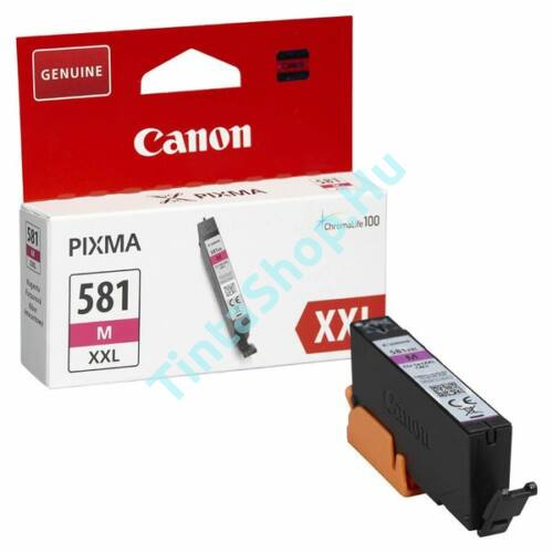 Canon CLI-581 MG XXL bíbor (piros) (MG-Magenta) nagy kapacitású eredeti (gyári, új) tintapatron