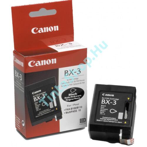 Canon BX-3 fekete (BK-Black) eredeti (gyári, új) tintapatron