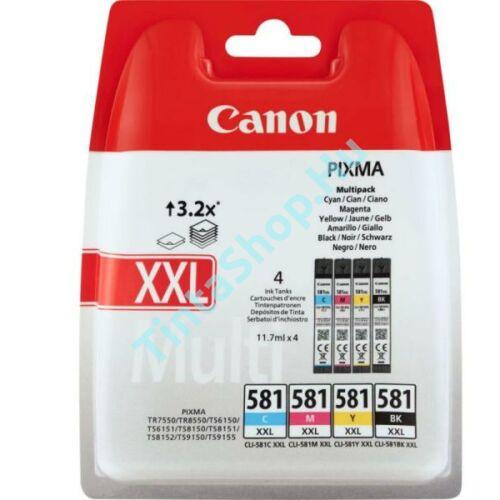 Canon CLI-581 XXL eredeti (gyári, új) extra nagy kapacitású multipack