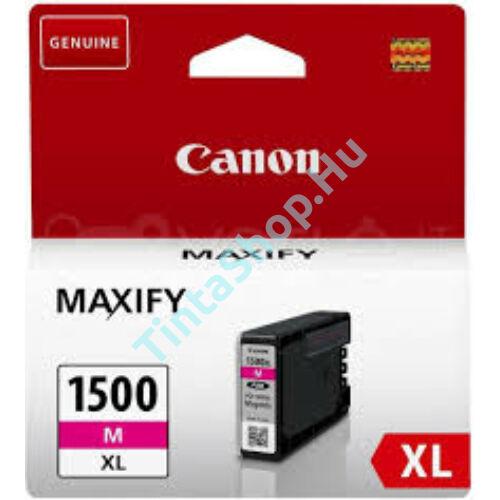 Canon PGI-1500 MG XL bíbor (piros) (MG-Magenta) nagy kapacitású eredeti (gyári, új) tintapatron