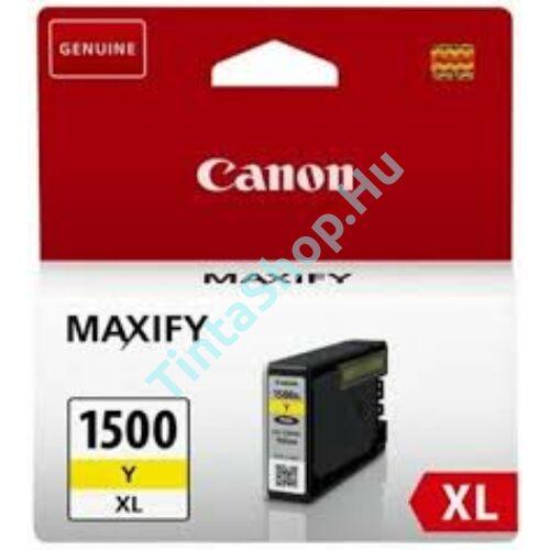 Canon PGI-1500 YL XL sárga (YL-Yellow) nagy kapacitású eredeti (gyári, új) tintapatron