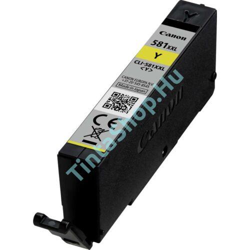 Canon CLI-581 YL XXL sárga (YL-Yellow) nagy kapacitású kompatibilis (utángyártott) tintapatron