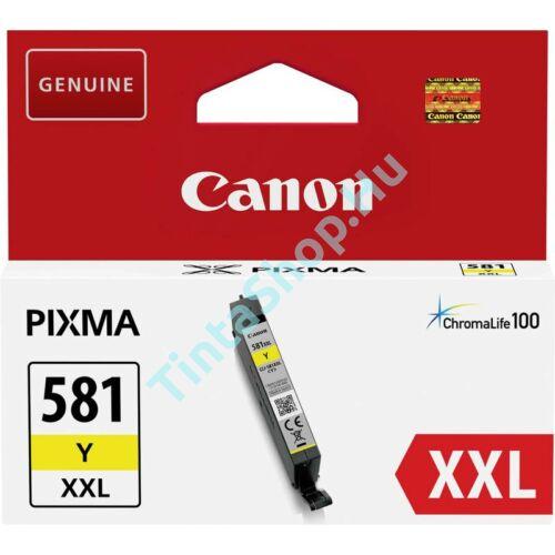 Canon CLI-581 YL XXL sárga (YL-Yellow) nagy kapacitású eredeti (gyári, új) tintapatron
