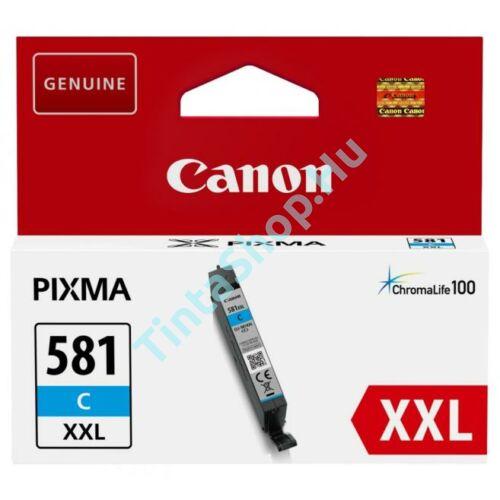 Canon CLI-581 CY XXL cián kék (CY-Cyan) nagy kapacitású eredeti (gyári, új) tintapatron