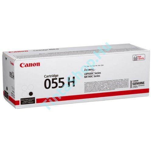 Canon CRG-055H BK fekete (BK-Black) nagy kapacitású eredeti (gyári, új) toner