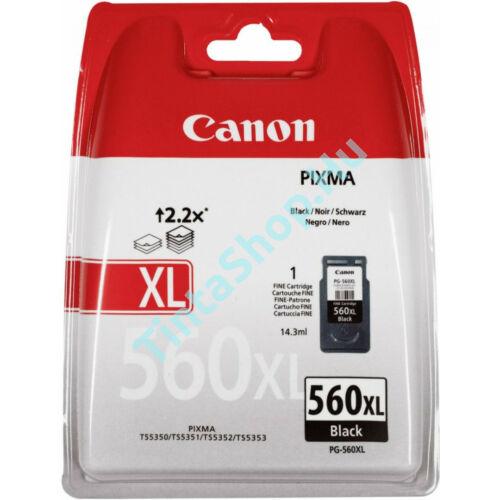 Canon PG-560 BK XL fekete (BK-Black) nagy kapacitású eredeti (gyári,új) tintapatron