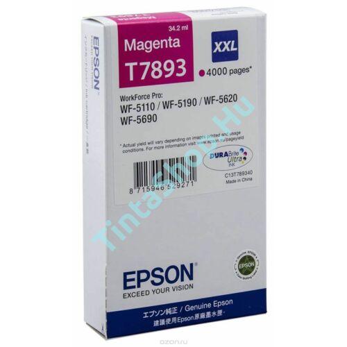 Epson T7893 MG Magenta (piros) (MG-Magenta) eredeti (gyári, új) tintapatron