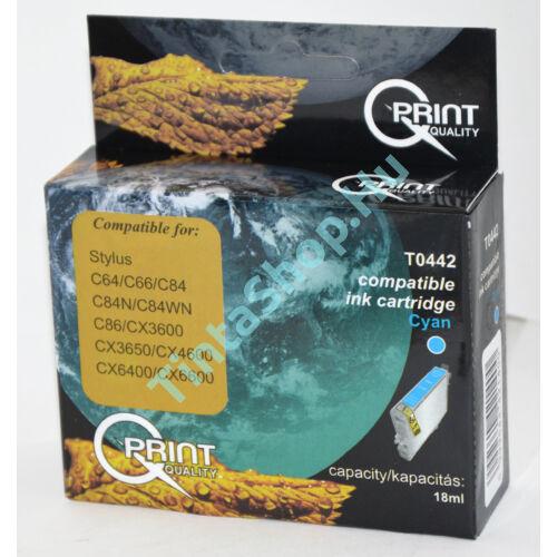 Epson T0442 Cián kék (CY-Cyan) kompatibilis (utángyártott) tintapatron