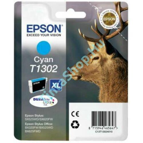 Epson T1302 CY XL cián (kék) (CY-Cyan) nagy kapacitású eredeti (gyári, új) tintapatron