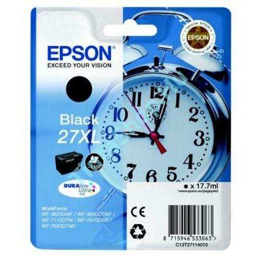 Epson T2711 (No.27 XL) BK fekete (BK-Black) nagy kapacitású eredeti (gyári, új) tintapatron