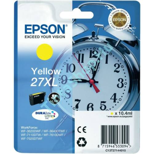 Epson T2714 (No.27 XL) YL sárga (YL-Yellow) nagy kapacitású eredeti (gyári, új) tintapatron