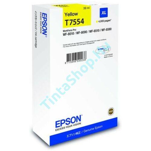 Epson T7554 YL XL sárga (YL-Yellow) nagy kapacitású eredeti (gyári, új) tintapatron