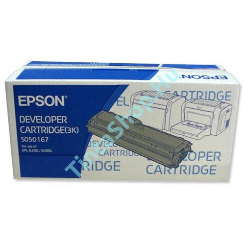 Epson EPL6200 (S050167) BK fekete (BK-Black) eredeti (gyári, új) toner