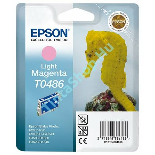 Epson T0486 LM v.magenta (v.piros) (LM-Light Magenta) eredeti (gyári, új) tintapatron