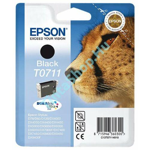 Epson T0711 BK fekete (BK-Black) eredeti (gyári, új) tintapatron