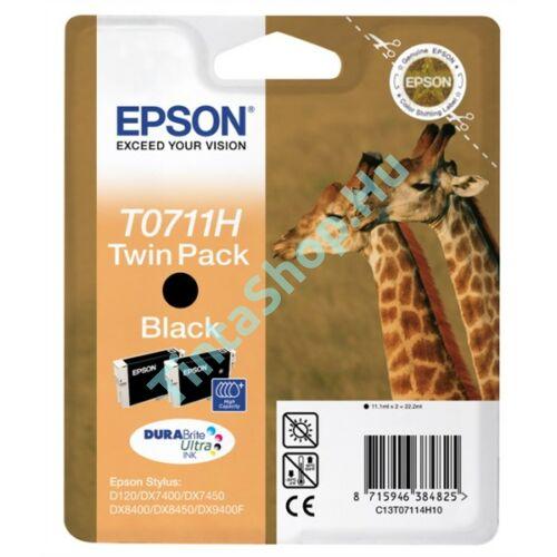 Epson T0711H BK fekete (BK-Black) nagy kapacitású eredeti (gyári, új) tintapatron