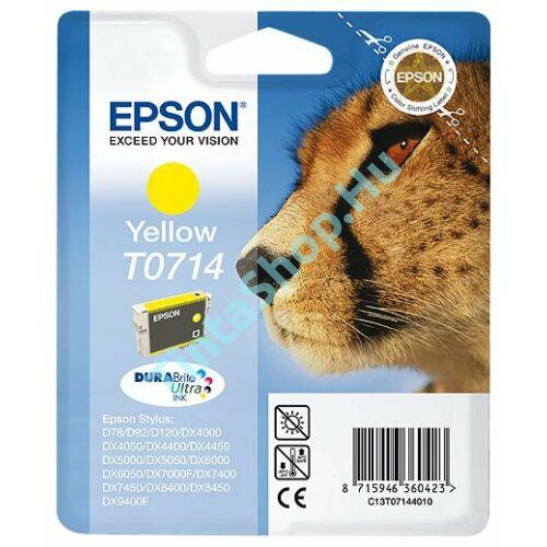Epson T0714 YL sárga (YL-Yellow) eredeti (gyári, új) tintapatron